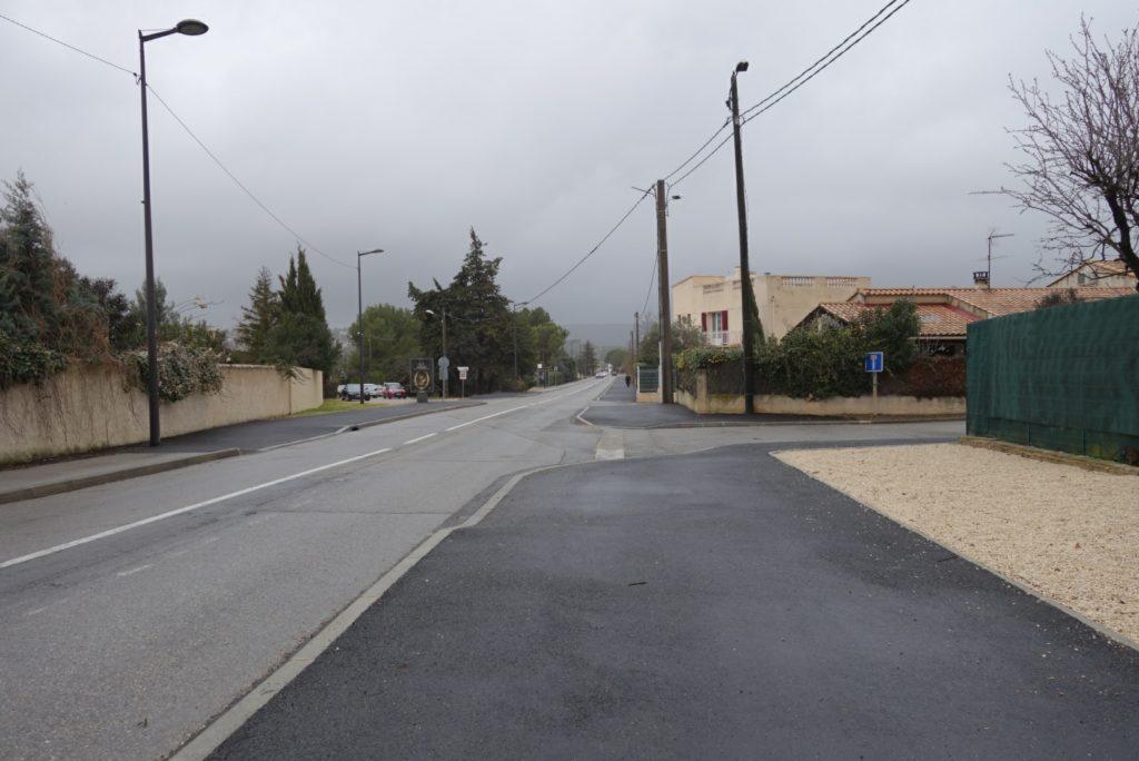 Le trottoir avenue Jean Moulin à Velaux